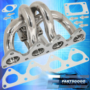 For 92 2001 Honda Prelude H22a Bb6 T3 t4 Racing Turbo Manifold Header Exhaust