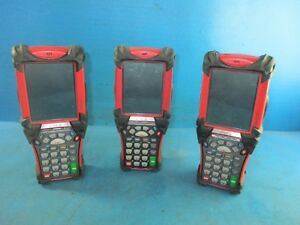 Lot Of 3 Symbol Motorola Barcode Scanner Wireless Mc9060 Pocket Pc Coca Cola