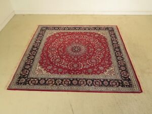 Lf44314ec Red Sarouk Pattern Approx 8 X 8 Wool Room Size Rug