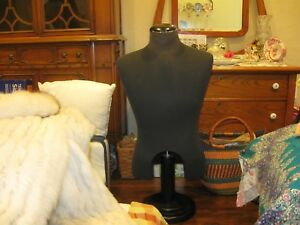 Mannequin Male Torso Dress Form Very Heavy Duty On A Stand
