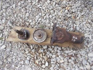 Allis Chalmers G Tractor Belt Pulley Drive Assembly W Gear Gears Hard To Findck