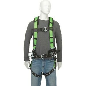 Miller Contractor Non stretch Full Body Safety Harness With Side D rings l xl