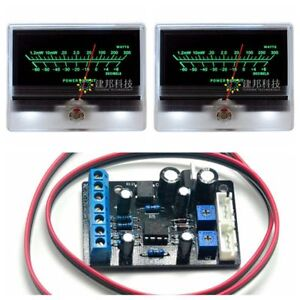 2pcs Tn 90a Vu Meter Db Level Header W 1pc Ta7318p Power Supply Driving Board