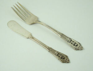 2 Pc Wallace Sir Christopher Sterling Flat Butter Spreader 6 3 8