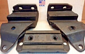 1961 1962 1963 1964 Oldsmobile Front Rear Mounts 3 Piece Set Made In Usa