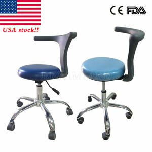 Pu Leather Medical Dental Dentist s Chair Doctor s Stool Adjustable Mobile Qe 1