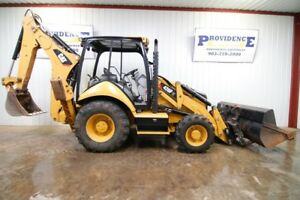 Cat 420f It Loader Backhoe 85hp Front Aux Hydraulics 4x4 52 Pallet Forks