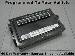 99 Dodge Ram 1500 5 9 At Ecu Pcm Ecm Engine Computer 150 56040150ad Prog Bt
