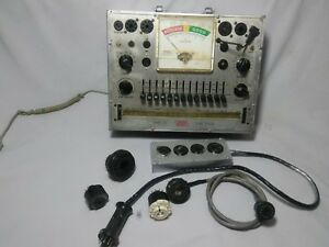Eico Model 628 Tube Tester 615 Tube Tester Adapter With Extras As Is