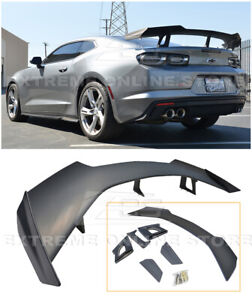 For 16 Up Chevy Camaro Abs Plastic Primered Black Zl1 1le Rear Trunk Lip Spoiler