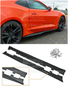 For 16 up Camaro Rs Ss Zl1 Style Abs Plastic Side Skirts Rocker Panel Pair