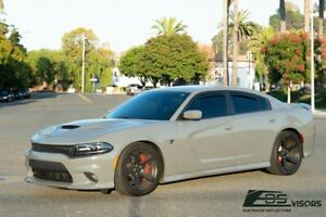 Eos Visors For 11 19 Dodge Charger In Channel Side Window Rain Guard Deflectors