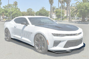Zl1 Style Abs Plastic Front Lip Splitter With Side Skirts For 16 up Camaro Ss