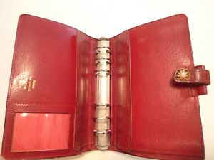Filofax Calf Leather Planner vintage Made In England Classic Model 4clf 7 8