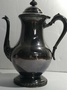 Vintage Antique Fb Rogers Silver Company 1875 Silverplate 1300 Coffee Tea Pot12