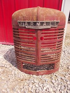 Farmall H Hv Tractor Orgnal Paint Factory Ih Ihc Front Nose Cone Grill W Screen