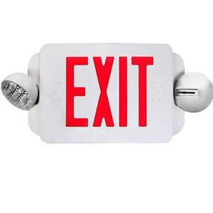 Etoplighting Red Led Exit Sign Emergency Light Combo With Battery Back up Ul924