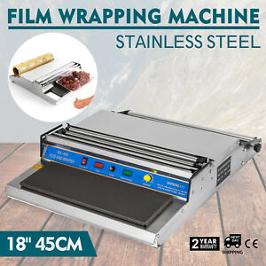 18 Food Tray Film Wrapper Wrapping Machine Sealer Bakery Storage Us Stock