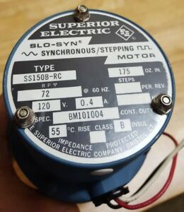 Ss150b rc Superior Electric Stepping Motor Slo syn 120vac 4amp