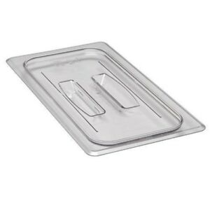 New Cambro Food Pan Cover Lids 1 3 Sz W handle 30cwch135 Case Of 6 Clear