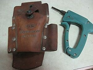 Ok Industries G 200 R3278 Wire Wrap Gun Tool Leather Belt Pouch Free Ship