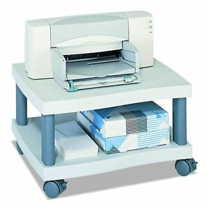 New Safco Products 1861gr Wave Under Desk Printer Machine Stand Light Gray