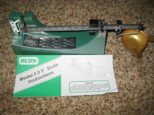 RCBS reloading scale model 5-0-5 part number 09071