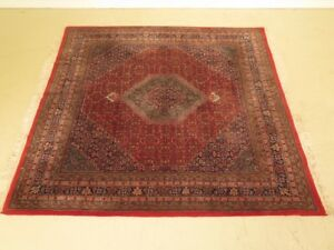 Lf42794 Vintage 1940 S High Quality Hand Knotted 8 X 8 Square Persian Rug