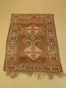 Lf43135 Turkish Approx 4 X 6 Hand Woven Vintage Area Rug