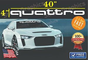 Audi Quattro Windshield Banners Cars Stickers Decals