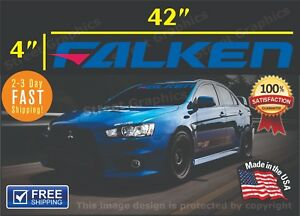 Falken Tires Banner Windshield Vinyl Decal Sticker 4 X42 Honda Evo Chevy Ford