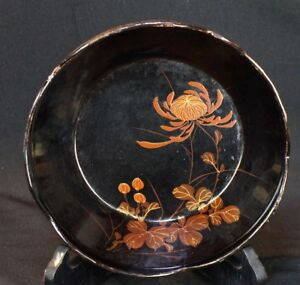 Japan Lacquer Plate 1890s Japanese Traditional Obon Art Craft