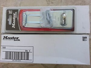 7 New Master Lock Hardened Steel Hinged Hasp Model706d