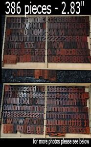 Letterpress Printing Blocks 386pcs 2 83 Tall Alphabet Type Letters Letter Print
