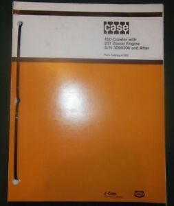 Case 450 Crawler Tractor Dozer With 207 Engine Parts Book Manual S n 3060306 up
