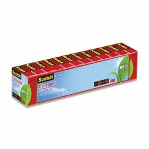 Scotch Transparent Greener Tape 3 4 X 900 Inches Boxed 12 Rolls 12 Rolls