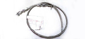 Universal 36 Stainless Ss Braided Throttle Cable Assembly Street Rat Rod