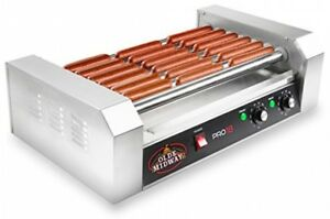Hot Dog Cooker Machine Electric Roller Grill 900 Watt Commercial Grade Stainless