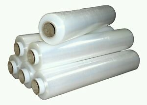 6x Strong Roll Clear Pallet Stretch Shrink Wrap Cast Parcel Packing Cling Film