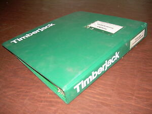Timberjack 40 Mini Slasher Parts Catalog Book Manual