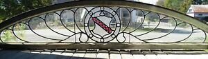 Victorian Leaded Clear Arch With Stained Glass Jeweled Center