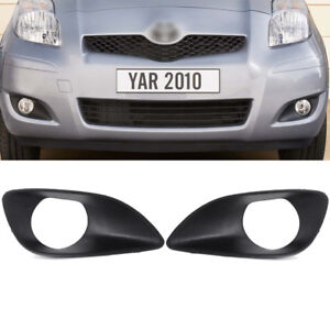 Front Bumper Fog Driving Lamp Light Cover Bezel Trim For Toyota Yaris 2007 2012