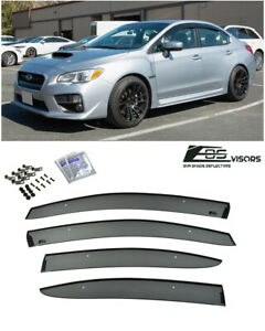 For 15 21 Subaru Wrx Sti Jdm Clip On Style Side Vents Sun Shade Rain Guards