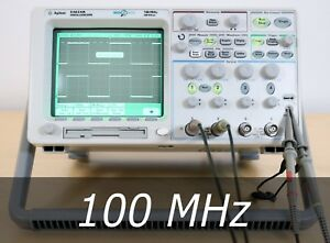 Hp Agilent 54624a 4 channel 100 Mhz Oscilloscope 2 New Probes Very Clean