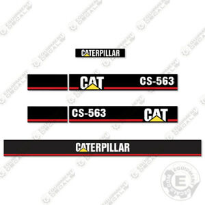 Caterpillar Cs 563 Vibratory Compactor Decal Kit Equipment Decals Cs563