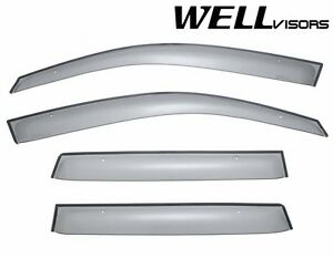 Wellvisors For 03 06 Mitsubishi Outlander Smoke Side Rain Gaurd Window Visors