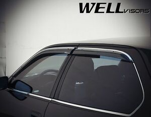 Wellvisors For 95 00 Lexus Ls400 W Chrome Trim Side Window Visors Deflectors