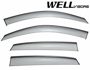 Wellvisors For 03 08 Infiniti Fx35 Fx45 Black Trim Side Window Rain Deflectors