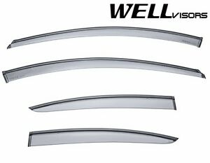 Wellvisors For 11 15 Chevrolet Cruze Black Trim Side Window Visors Deflectors