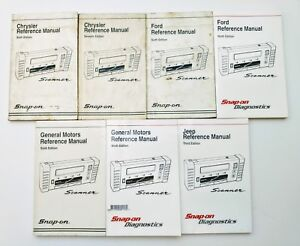 Snap On Diagnostics Scanner Mt2500 7 Manuals Lot Set